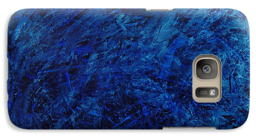 Abstract Galaxy S7 Case featuring the painting Alans Call by Dean Triolo
