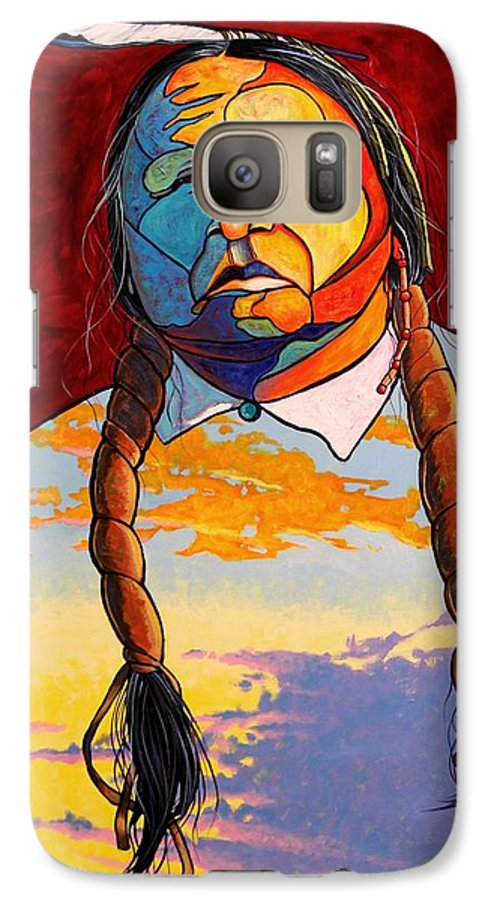 Spiritual Galaxy S7 Case featuring the painting All That I Am by Joe Triano