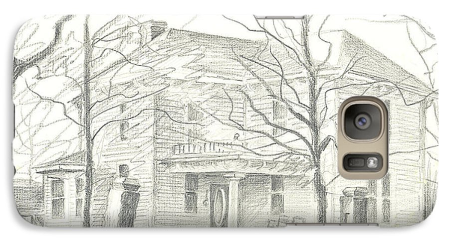 American Home Ii Galaxy S7 Case featuring the drawing American Home II by Kip DeVore
