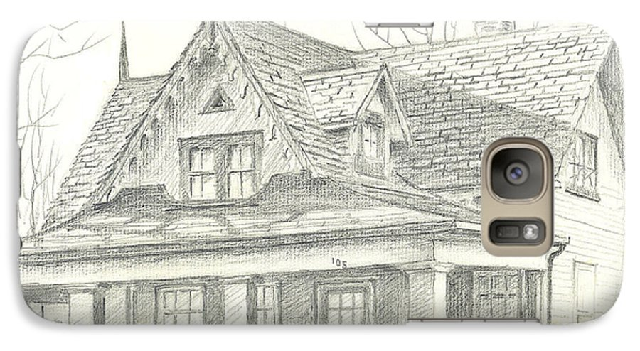 American Home Galaxy S7 Case featuring the drawing American Home by Kip DeVore