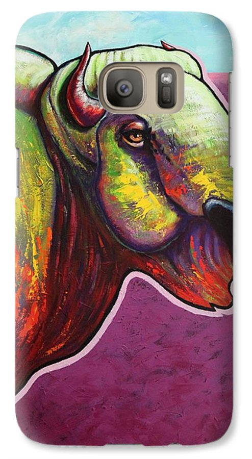 Wildlife Galaxy S7 Case featuring the painting American Monarch by Joe Triano
