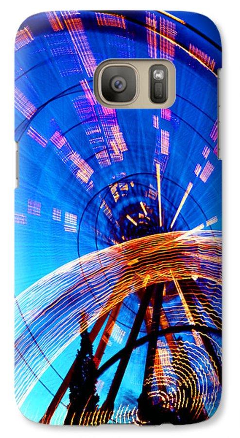 Amusement Park Galaxy S7 Case featuring the photograph Amusement Park Rides 1 by Steve Ohlsen