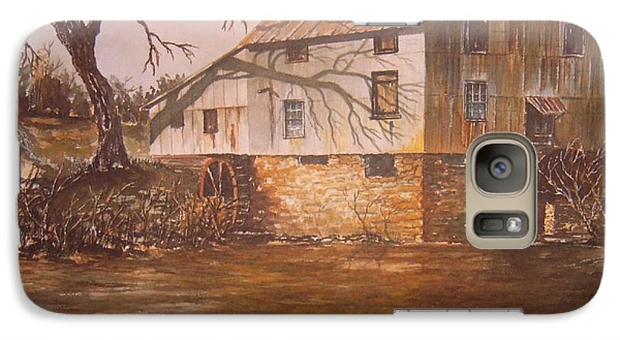 Landscape Galaxy S7 Case featuring the painting Anderson Mill by Ben Kiger