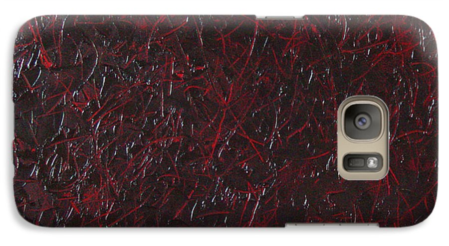 Abstract Galaxy S7 Case featuring the painting Another Shedding by Dean Triolo