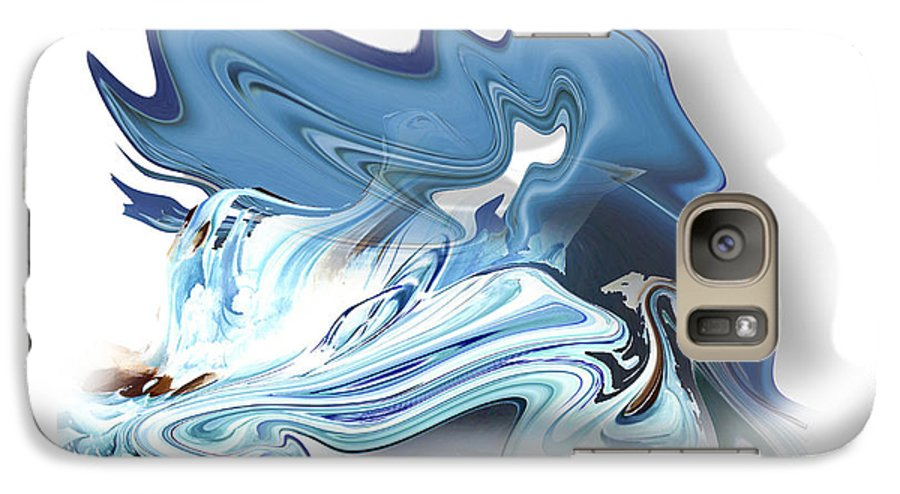 Astrology Galaxy S7 Case featuring the painting Aquarius by Christian Simonian