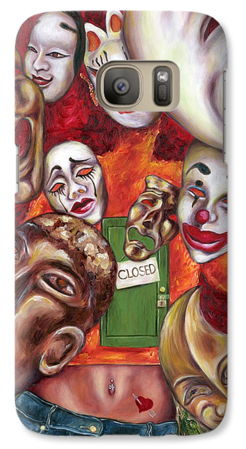 Mask Galaxy S7 Case featuring the painting Artist by Hiroko Sakai
