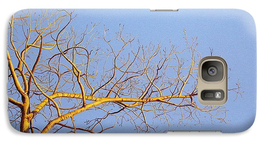 Aspen Painting Galaxy S7 Case featuring the painting Aspen In The Autumn Sun by Elaine Booth-Kallweit
