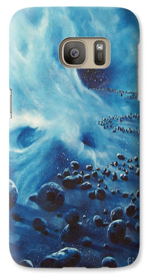 Si-fi Galaxy S7 Case featuring the painting Asteroid River by Murphy Elliott