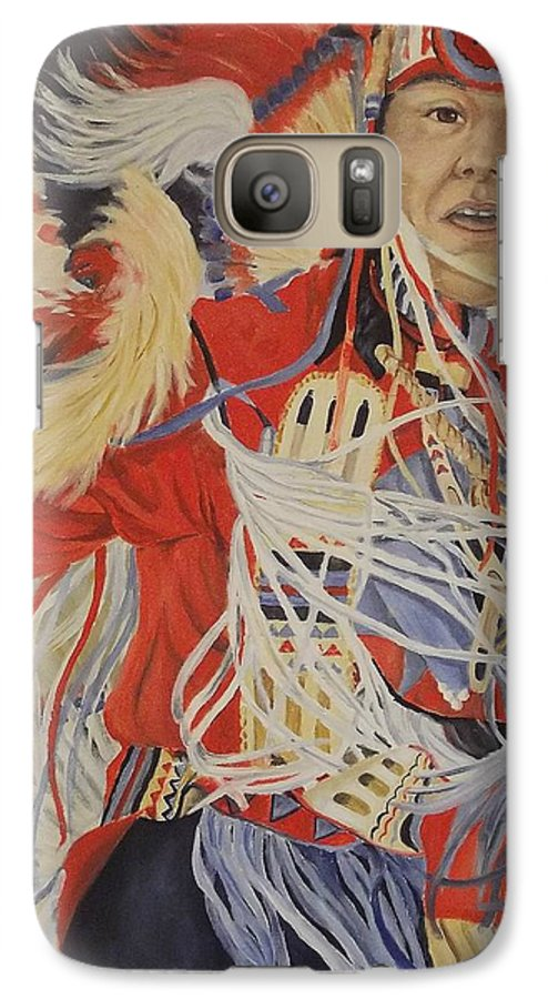 Indian Galaxy S7 Case featuring the painting At The Powwow by Wanda Dansereau