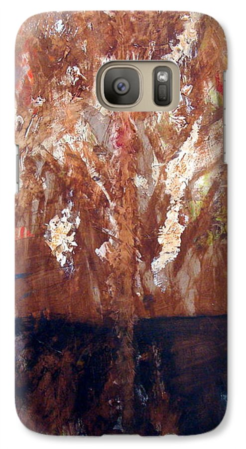 Autumn Galaxy S7 Case featuring the painting Autumn by Holly Picano