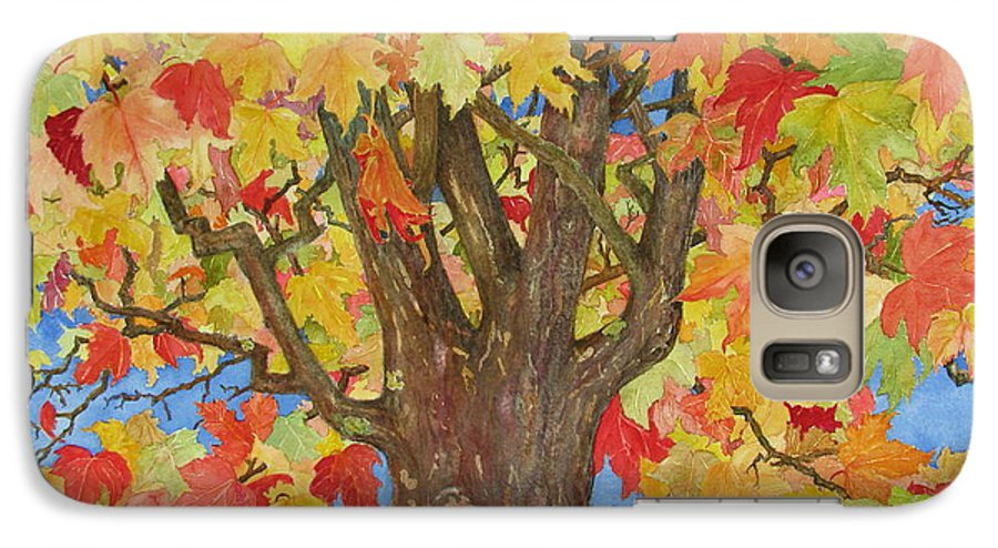 Leaves Galaxy S7 Case featuring the painting Autumn Leaves 1 by Mary Ellen Mueller Legault