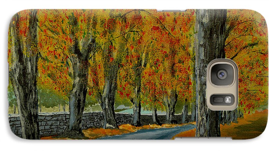 Autumn Galaxy S7 Case featuring the painting Autumn Pathway by Anthony Dunphy