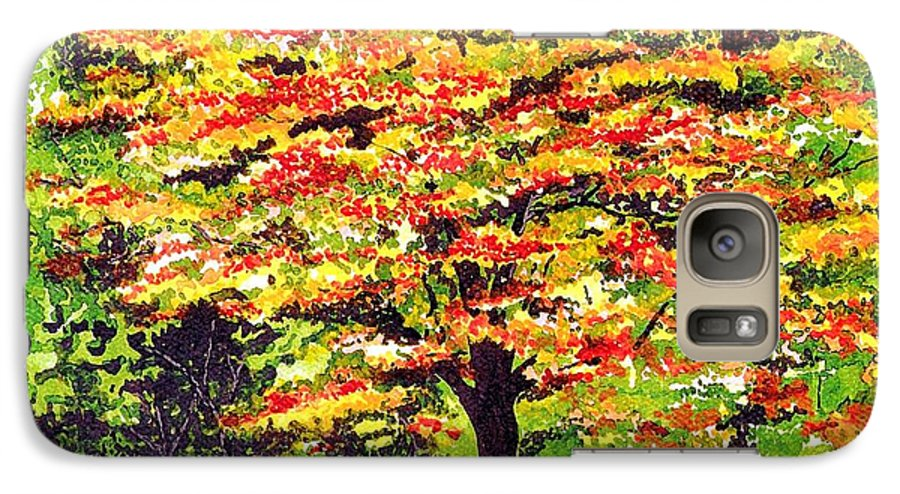 Fine Art Galaxy S7 Case featuring the painting Autumn Splendor by Patricia Griffin Brett