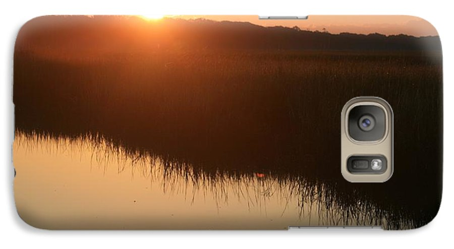 Sunrise Galaxy S7 Case featuring the photograph Autumn Sunrise Over The Marsh by Nadine Rippelmeyer