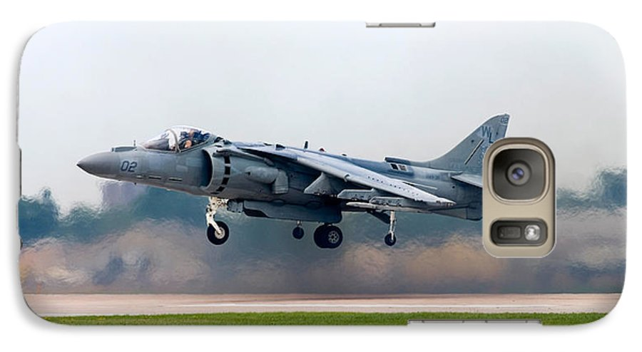 3scape Photos Galaxy S7 Case featuring the photograph Av-8b Harrier by Adam Romanowicz