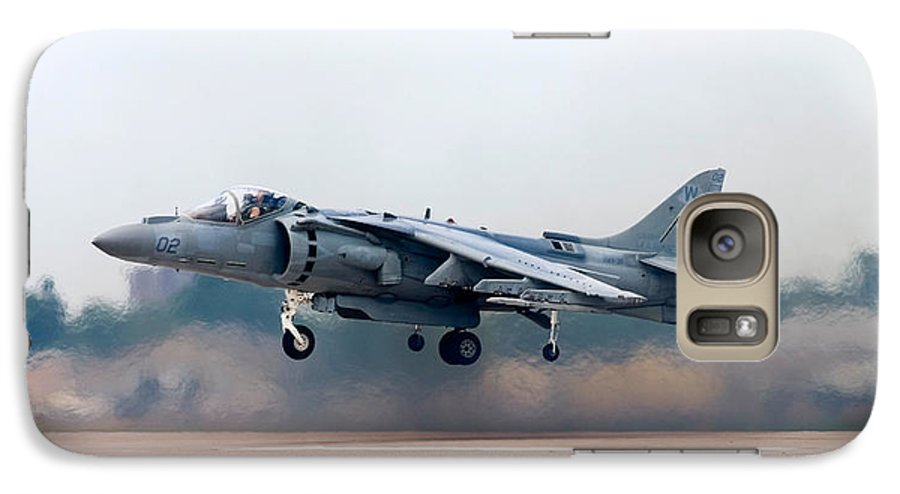 3scape Galaxy S7 Case featuring the photograph Av-8b Harrier by Adam Romanowicz