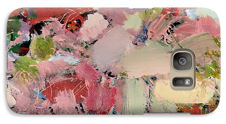 Landscape Galaxy S7 Case featuring the painting Azaleas by Allan P Friedlander