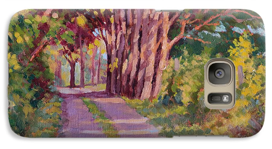 Road Galaxy S7 Case featuring the painting Backroad Canopy by Keith Burgess