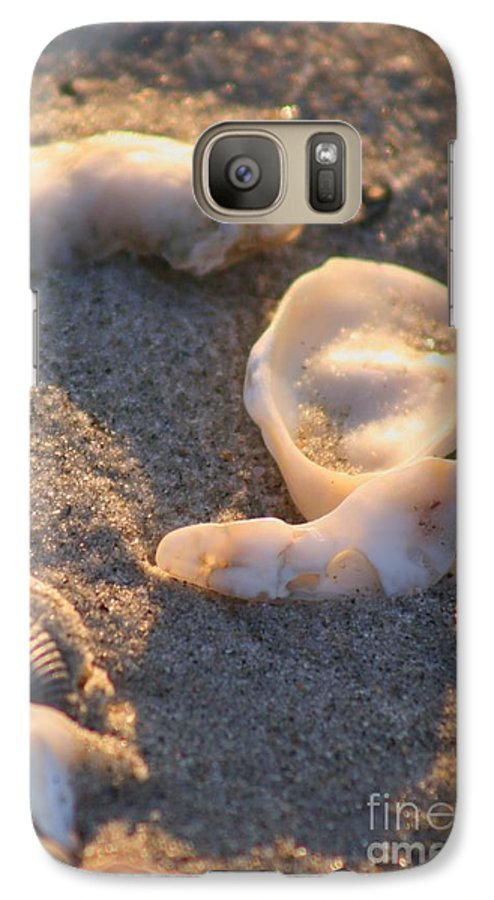 Shells Galaxy S7 Case featuring the photograph Bald Head Island Shells by Nadine Rippelmeyer
