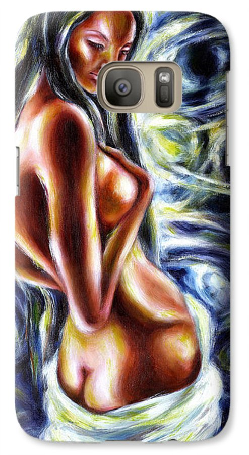 Bathing Galaxy S7 Case featuring the painting Bathing In Moon Light by Hiroko Sakai