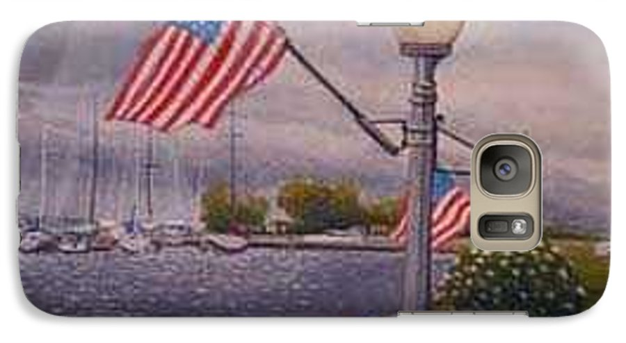 Rick Huotari Galaxy S7 Case featuring the painting Bayfield On The 4th by Rick Huotari