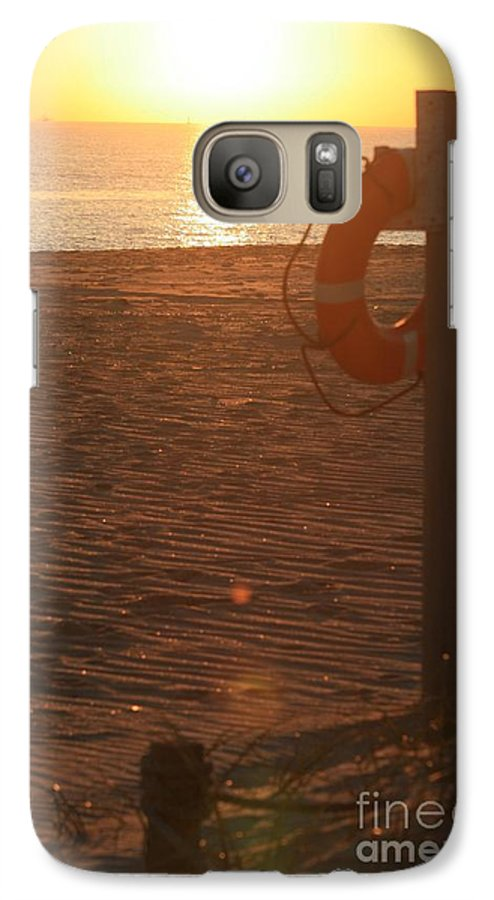Beach Galaxy S7 Case featuring the photograph Beach At Sunset by Nadine Rippelmeyer