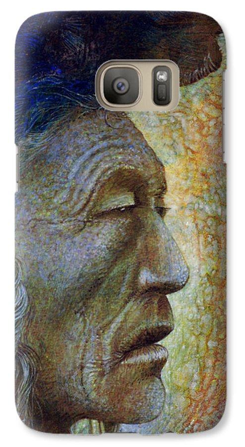 Bear Bull Galaxy S7 Case featuring the painting Bear Bull Shaman by Otto Rapp