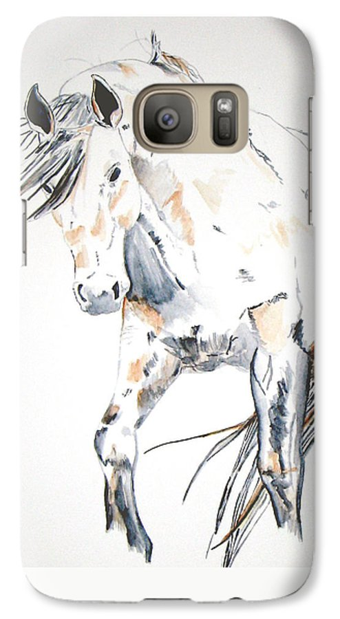 Horse Galaxy S7 Case featuring the painting Beauty by Crystal Hubbard