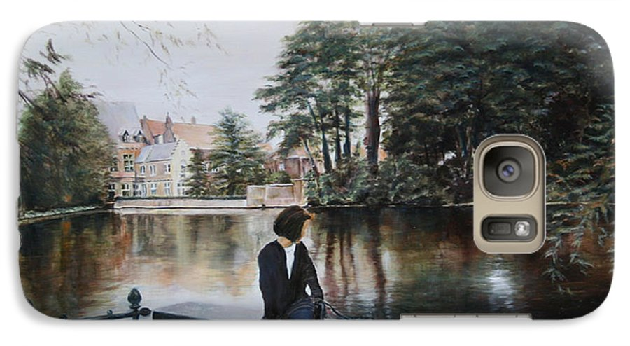 Water Galaxy S7 Case featuring the painting Belgium Reflections In Water by Jennifer Lycke