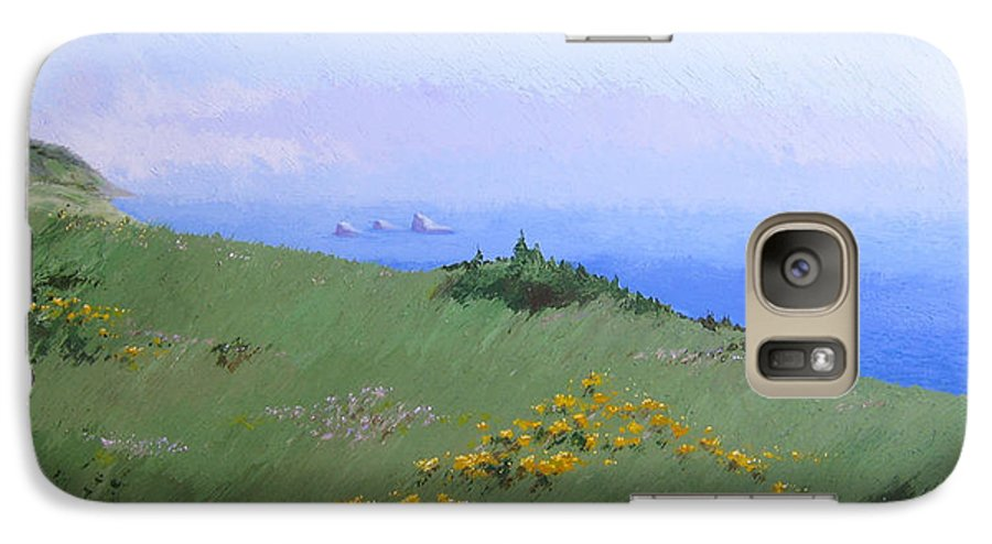 Landscape Galaxy S7 Case featuring the painting Big Sur by Hunter Jay