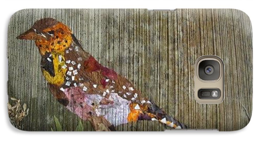 Bar-bat Bird Galaxy S7 Case featuring the mixed media Bird Barbet by Basant Soni