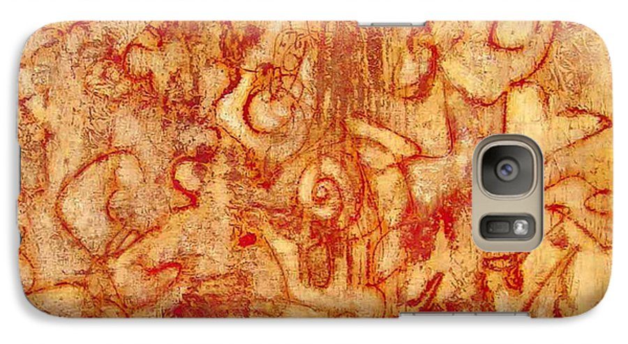 Heart Ache Galaxy S7 Case featuring the painting Bleeding Through by Teresa Carter