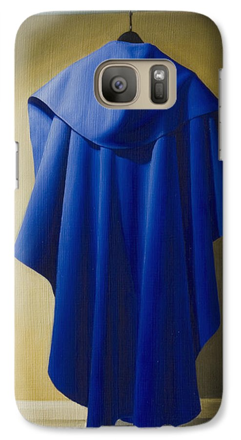 Realism Galaxy S7 Case featuring the painting Blue Cape by Gary Hernandez