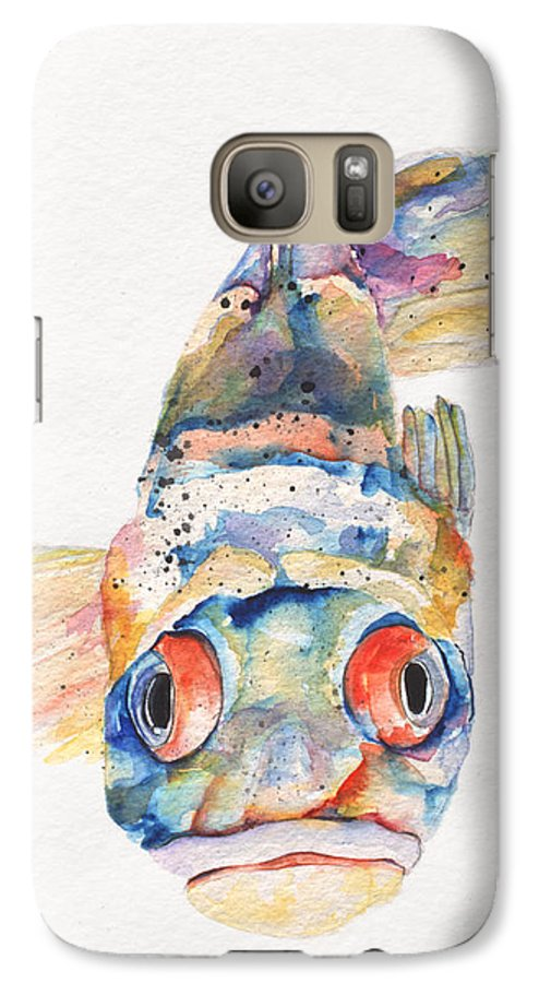 Pat Saunders-white Galaxy S7 Case featuring the painting Blue Fish  by Pat Saunders-White