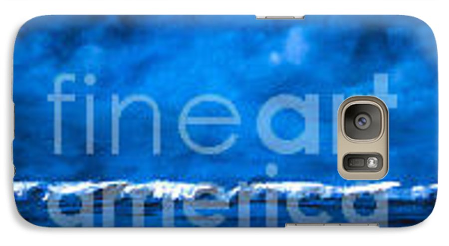 Abstract Galaxy S7 Case featuring the painting Blue On Blue by Wendy Froshay