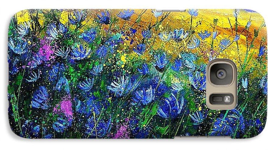 Flowers Galaxy S7 Case featuring the painting Blue Wild Chicorees by Pol Ledent