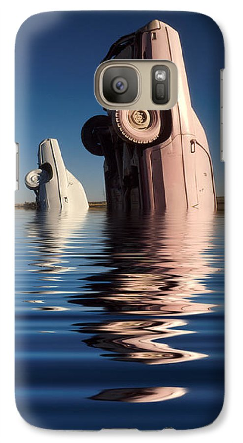 Cadillac Galaxy S7 Case featuring the photograph Bobbing For Carburetors by Jerry McElroy