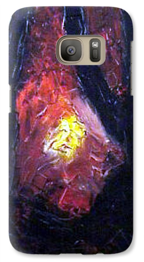 Landscape Galaxy S7 Case featuring the painting Bonefire by Sergey Bezhinets