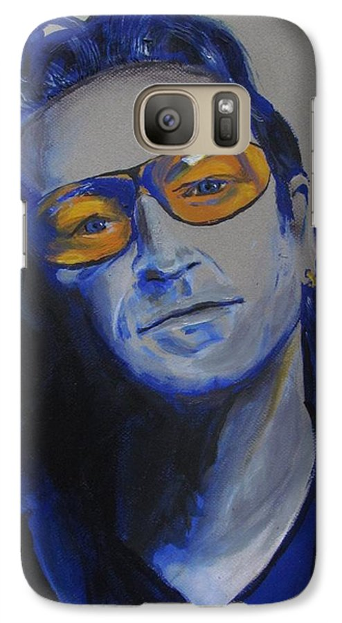 Celebrity Portraits Galaxy S7 Case featuring the painting Bono U2 by Eric Dee