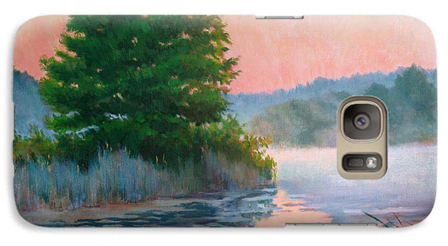 Impressionism Galaxy S7 Case featuring the painting Break Of Day by Keith Burgess