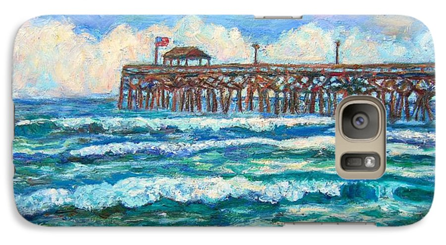 Shore Scenes Galaxy S7 Case featuring the painting Breakers At Pawleys Island by Kendall Kessler