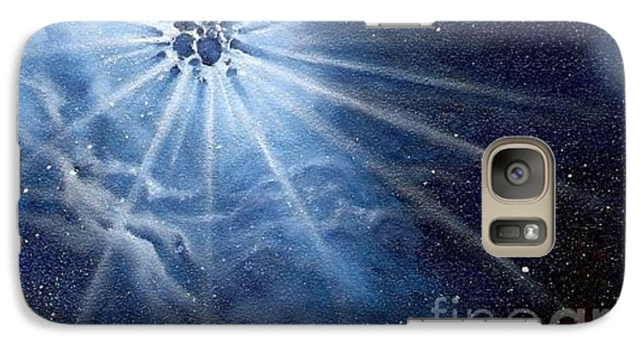Outerspace Galaxy S7 Case featuring the painting Burst Of Light by Murphy Elliott