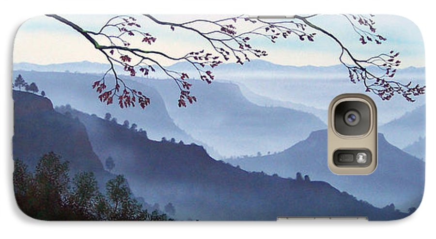 Mural Galaxy S7 Case featuring the painting Butte Creek Canyon Mural by Frank Wilson