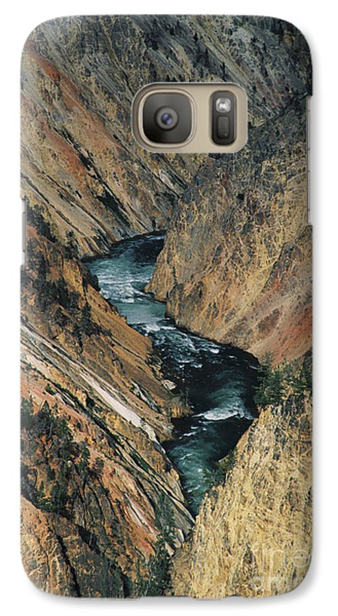 Yellowstone Galaxy S7 Case featuring the photograph Canyon Jewel by Kathy McClure