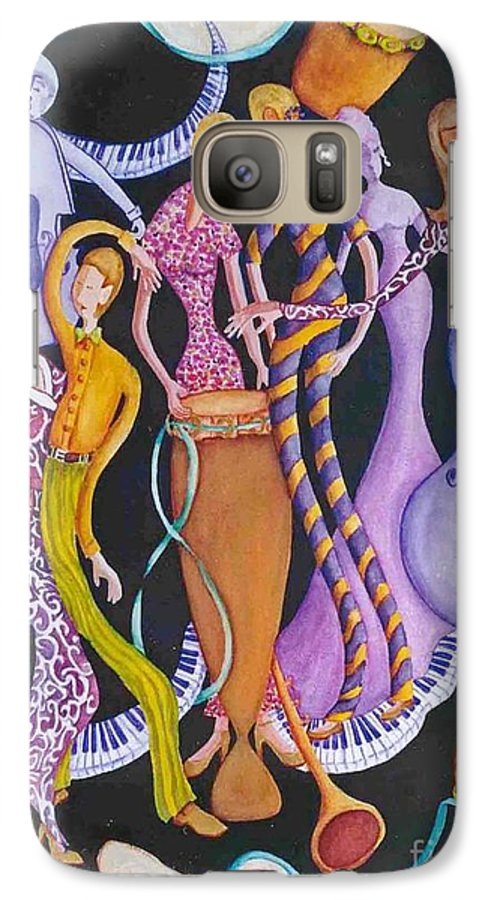 Dancers Galaxy S7 Case featuring the painting Caribbean Calypso by Arleen Barton