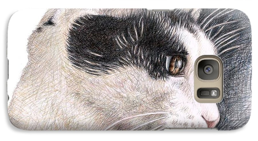 Cat Galaxy S7 Case featuring the drawing Cats View by Nicole Zeug