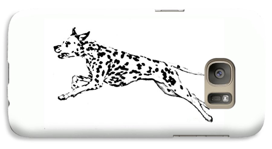 Dogs Galaxy S7 Case featuring the drawing Celebrate by Jacki McGovern
