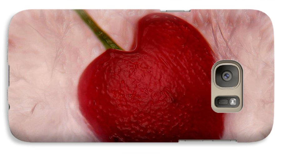 Heart Artred Cherry Heart Galaxy S7 Case featuring the photograph Cherry Heart by Linda Sannuti