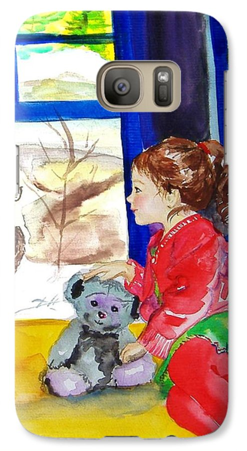 Christmas Galaxy S7 Case featuring the painting Childhood by Laura Rispoli