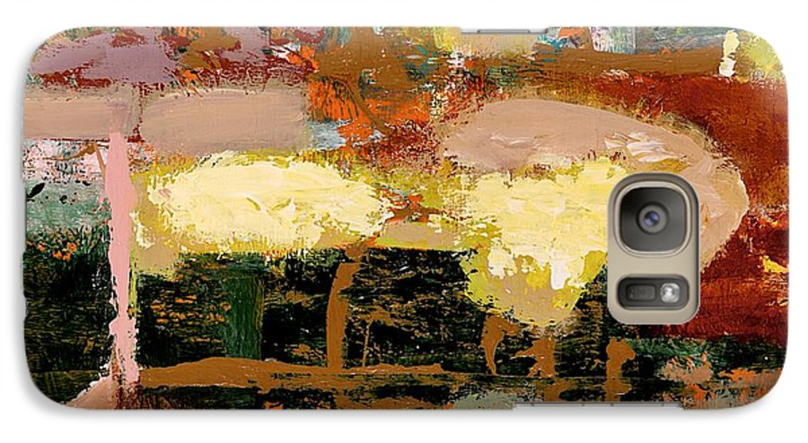 Landscape Galaxy S7 Case featuring the painting Chopped Liver by Allan P Friedlander